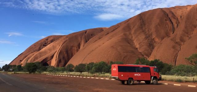 bus at rock